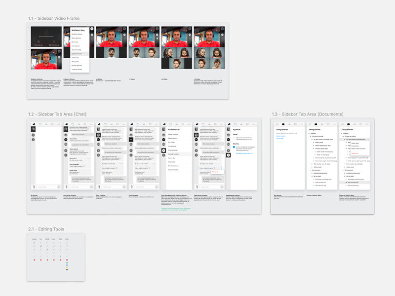 LMS Components [WIP] ui ux tools files documents file tree user list dropdown conference video chat lms