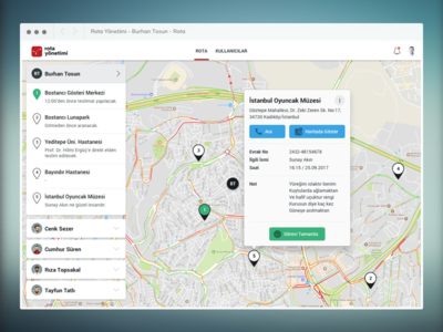 A simple route management web application