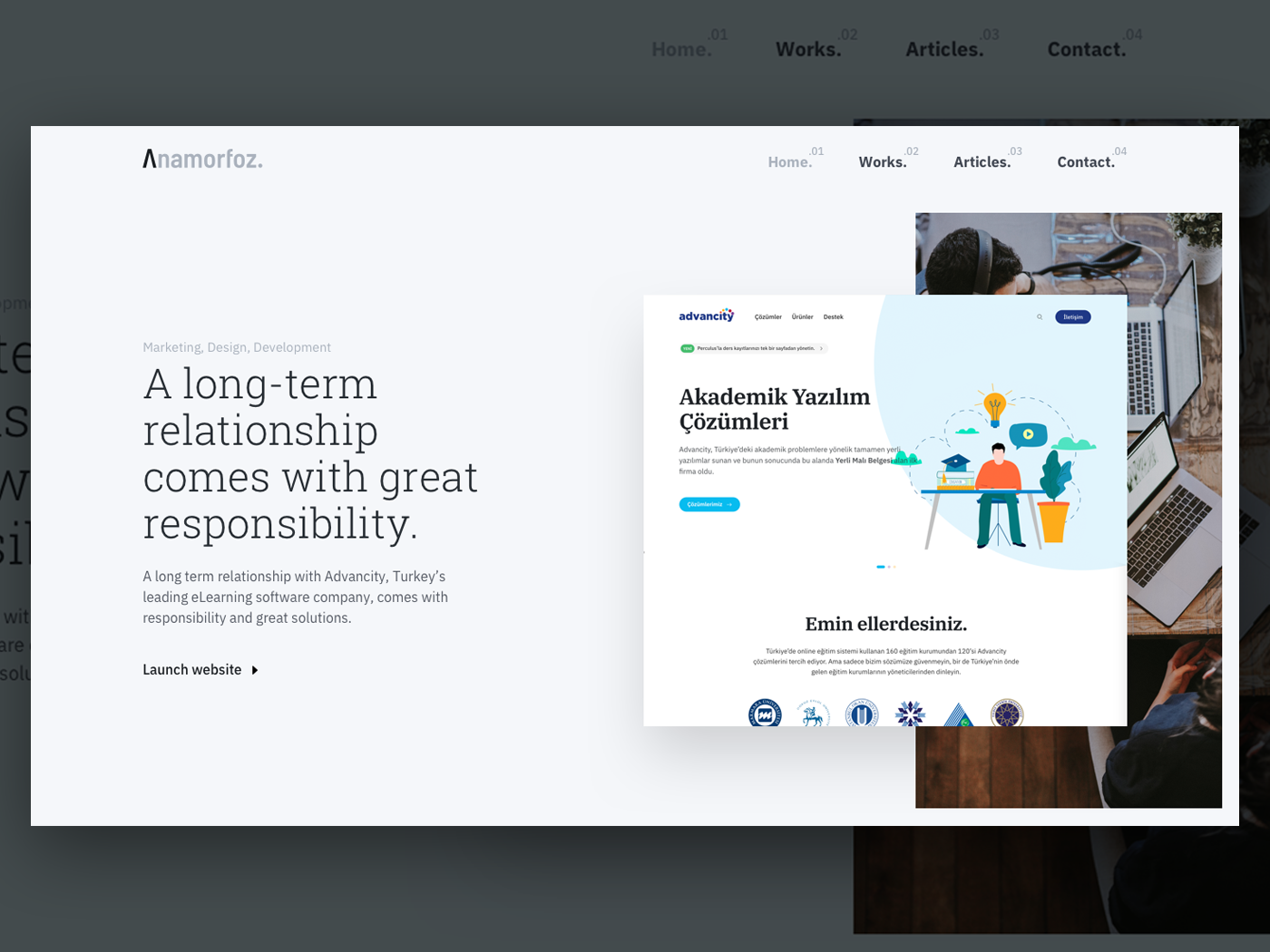 Anamorfoz Homepage Hero [WIP] ux ui elearning slider hero grid website portfolio