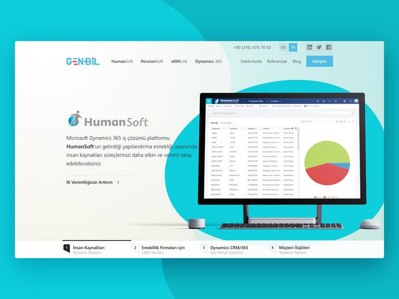 Genbil [Partial Redesign] header hero ux hubspot sketch website ui design navigation slider marketing crm redesign