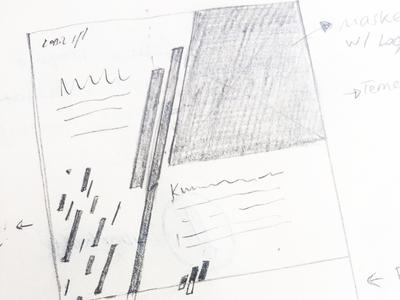 Kobil For Temenos Landing Page - Early Sketch security banking landing page design website ux handdrawing sketch
