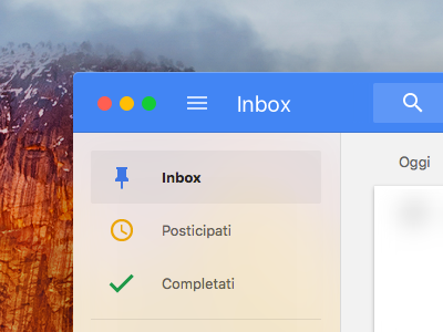 Inbox for Mac (mockup) redesign el capitan mockup google inbox