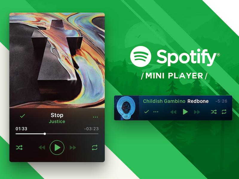 Spotify Mini Player finished concept by Fabrizio Rinaldi on