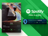 Spotify Mini Player finished concept