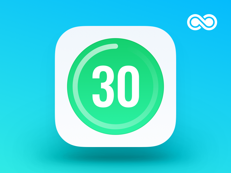 Thirty Day Fitness Icon iphone sketch design app ios ui icon