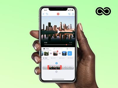 Video Music interface editing video iphone sketch design app ios ux ui