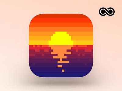 Rized Icon art pixel iphone ui design app icon ios
