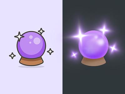 Crystal Ball – Streamline Emoji redesign 3d sketch redesigned emoji streamline