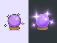 Crystal Ball – Streamline Emoji redesign