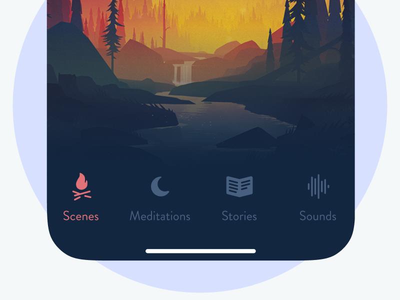 Sleeping App sleep health design app iphone ux ui