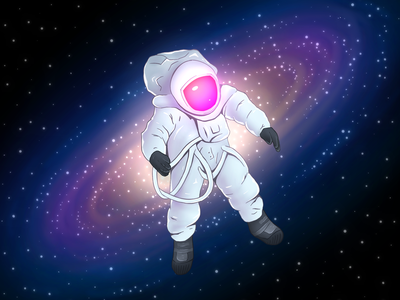 Lost in Space art ipad procreate illustration galaxy space astronaut