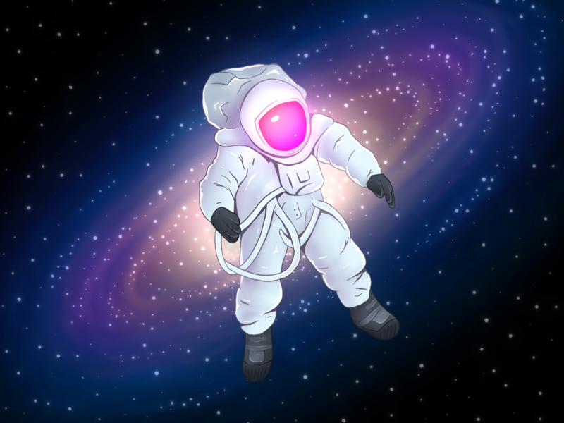 Lost in Space art ipad procreate illustration galaxy space astronaut