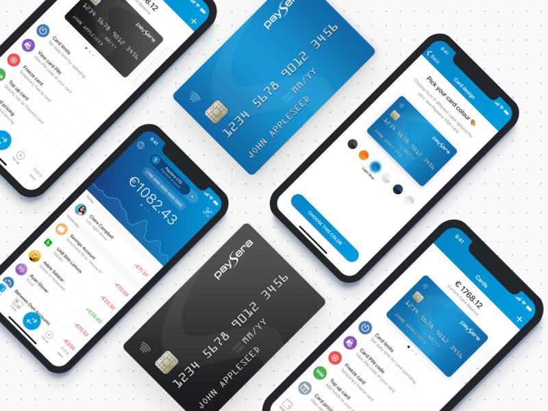 Choose Card Design mobile payments finance mobile bank mobile banking finance application bank card banking choose card card design cards mobile wallet wallet paysera finance app