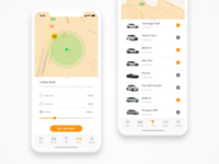 Citybee Car Sharing Radar & Filters Screen