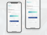 Proteon X Login & Register Screens