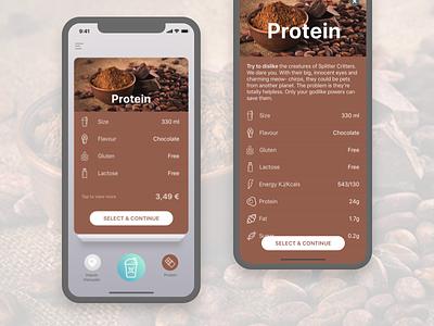 Proteon X  Health App - Chocolate Protein Taste proteon x protein protein shake shake health health app cacao taste chocolate ios 11 iphone x
