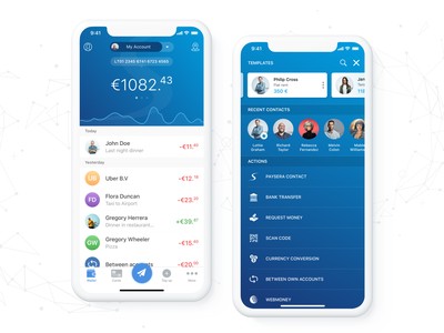 Paysera Mobile Wallet (Finance App for iOS) ios bank mobile banking finance application finance finance app mobile bank mobile payments fast payments between accounts templates pay pay contact scan code currency converter currency transactions wallet mobile wallet paysera