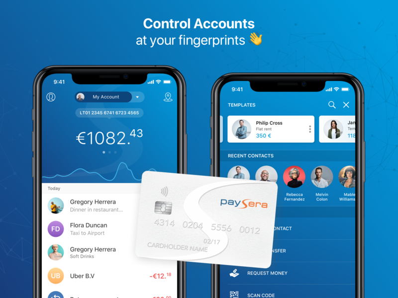 Paysera Mobile Wallet budget paysera mobile wallet wallet transactions currency currency converter pay contact pay templates between accounts fast payments mobile payments mobile bank finance app finance finance application mobile banking bank ios