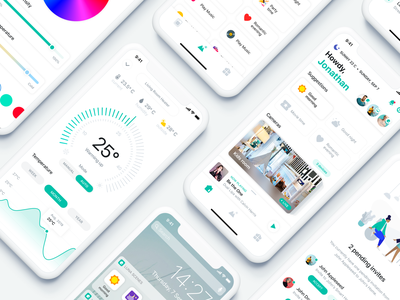 Smart Home App 🏠 music control multiple houses invite friends weather temperature control temperature light control lights room selection room scenes good morning smart home app apple home google home smart control smart house smarthome smart