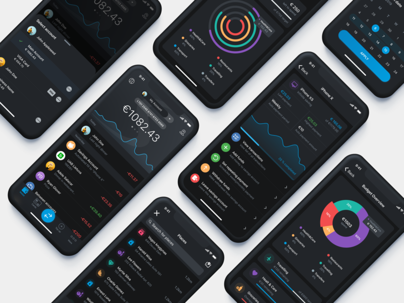 Paysera Mobile Wallet in Dark Mode 🖤 savings account budget control filter transactions spending overview spending budget mobile ui mobile app mobile app design mobile bank fast payments mobile wallet finance application currency bank wallet paysera transactions finance finance app
