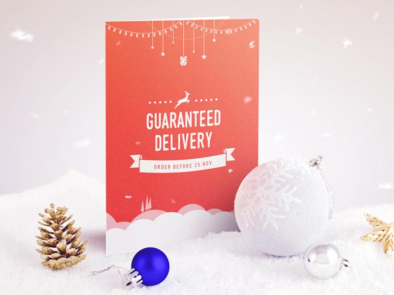 Xmas greeting card design xmas christmas reindeer snow winter card mail