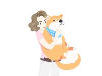 Woman&Shiba Dog