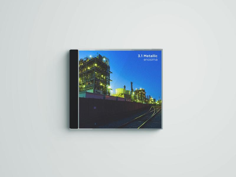 3.1 Metallic / enosima album cover design album art music art music artwork album cover album artwork