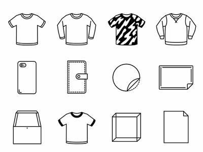 SUZURI ITEM ICONS fashion illustation icons design icons pack icons icon