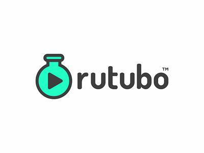 rutubo iOS app Logo ios illustration ui app typogaphy logo