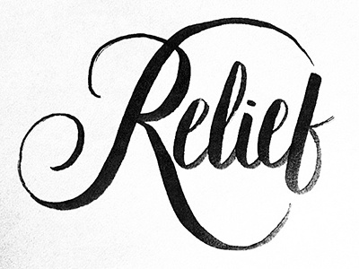 Relief Hand Lettering
