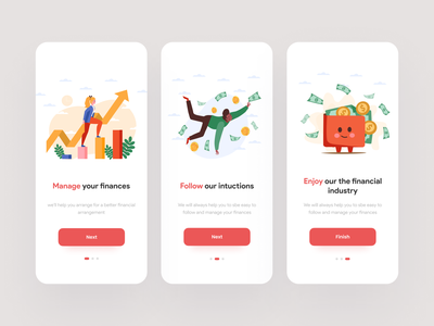 Moneyable - Mobile App Applicable growth statistic graph wallet illustration money illustration finance illustration illustration kit onboarding ui onboarding mobile app vector illustration kit minimalist design clean ui design app ui kit ui