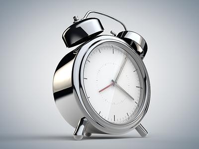 Alarm Clock render playing cinema 4d