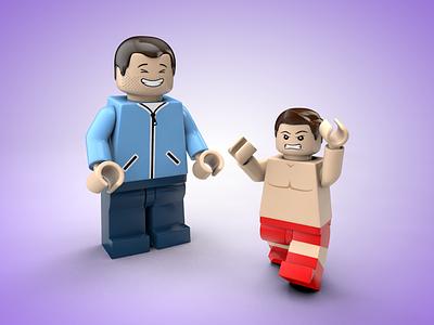 LEGO Minifigure - Wrestler cinema 4d