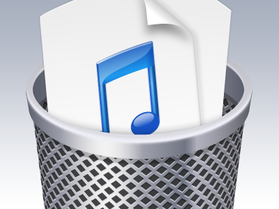Duplicate Music Deleter wip vector trash music itunes icon software client work adobe illustrator