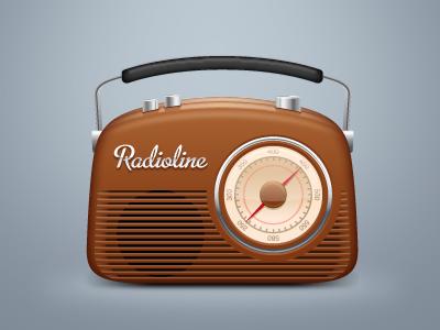 Radioline radio retro icon mac software client work