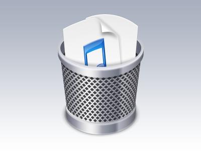 Duplicate Music Deleter (Rebound) icon software vector itunes music trash adobe illustrator client work
