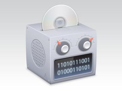Audio/Video Convertor audio video convert icon software mac adobe illustrator box robot client work vector