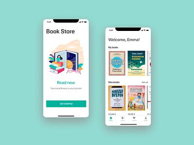 Book Store App ios app design ui design designs store book ui app