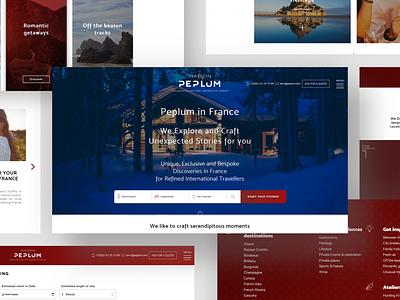 PEPLUM agency design agency website webagency website webdesign web ux ui
