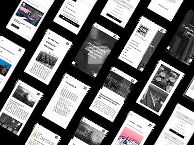 MELODIUM STUDIO Website - Mobile version mobile design mobile website webdesign web ux ui agency webagency design agency website