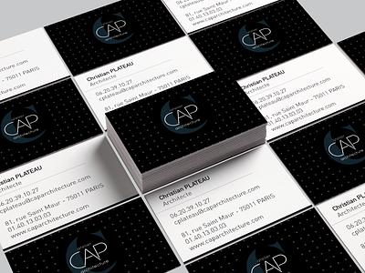 CAP ARCHITECTURE - Branding visiting card design visiting card visit card print agency print brand identity branding