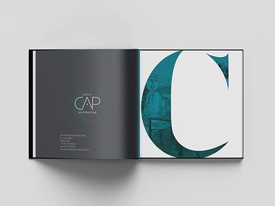 CAP ARCHITECTURE Book design brand identity branding print agency print book design book
