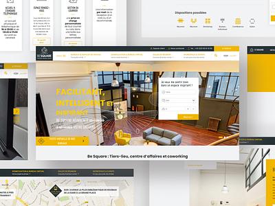 BE SQUARE Website webdesign ux ui website web webagency website agency