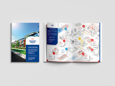 POWER ROAD Book design brand identity branding print agency print book design book