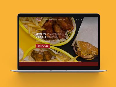 Website Design for Fast Food logo minimal website design branding web ux ui