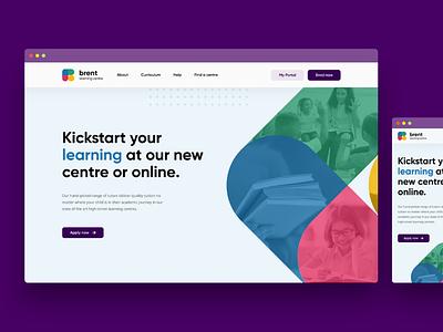 Website Design for Educational Centre logo branding website web ux ui design