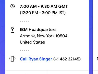 Smart Calendar for Travelling Salespeople interaction meetings planner smart calendar ux ui