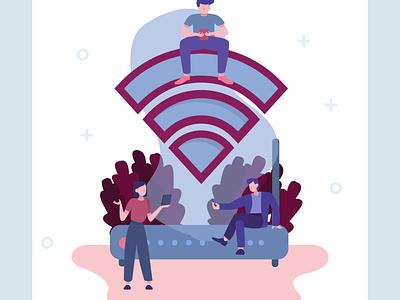 Always online. Wireless network technology symbol. router online wireless wifi vectorgraphics technology vectorgraphics.io illustration vector illustration