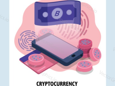 Bitcoin in your pocket bitcoin exchange bitcoin wallet cryptocurrency mobile smartphone bitcoin illustration technology vectorgraphics.io vector illustration
