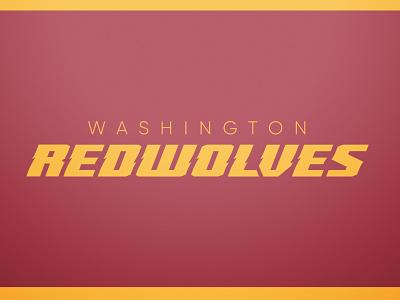 Washington Redwolves Logotype washington redskins speed dynamic sharp italic typography logotype wolves redwolves chris swinn rebrand design branding logo icon football